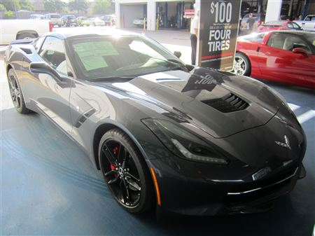 Dwayne Hopkins offers a new and old Stingray pairing, as the first 2014 Stingray arrives at Freedom Chevrolet.