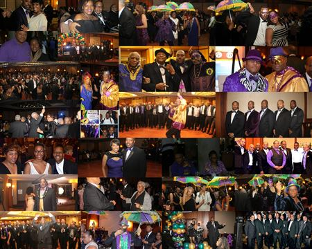 Pi Omega Mardi Gras 2014 at the downtown Grand Hilton Hotel