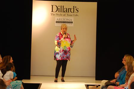 Dillard's provided lunch followed by a fashion show with AWLA models.  There was a drawing for a prize during lunch, and two