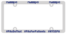 NYSSPA Chrome Color Plastic License Plate Frame - click to view details