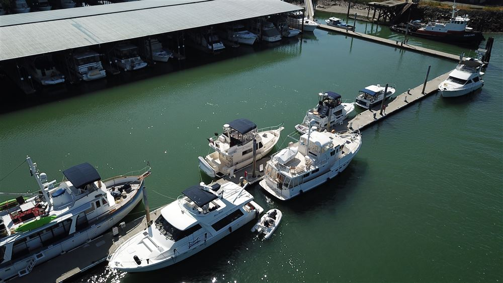 A few drone pictures taken of the EYC group on the North dock at La Conner on Memorial Day Cruise 2018
