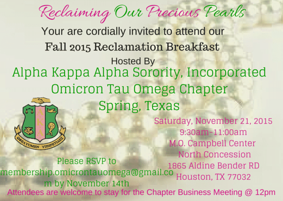2015 fall reclamation breakfast events omicron tau omega chapter events event view colourmoves Gallery