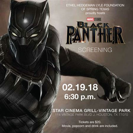 2018 Black Panther Movie Screening Flyer