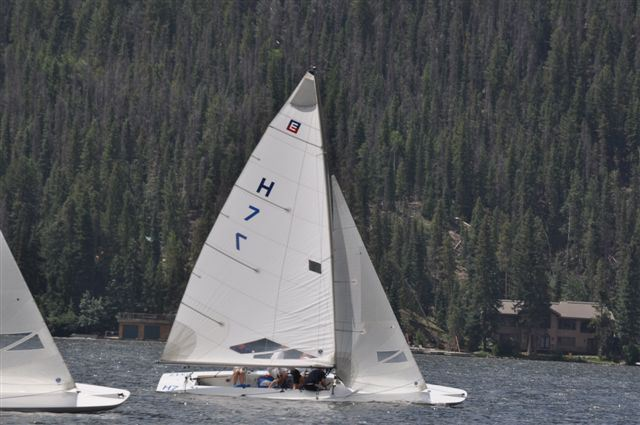 The first E-Scow regatta held at Grand Lake CO