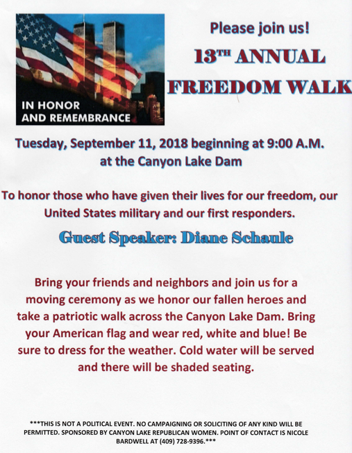 2018 Freedom Walk flyer