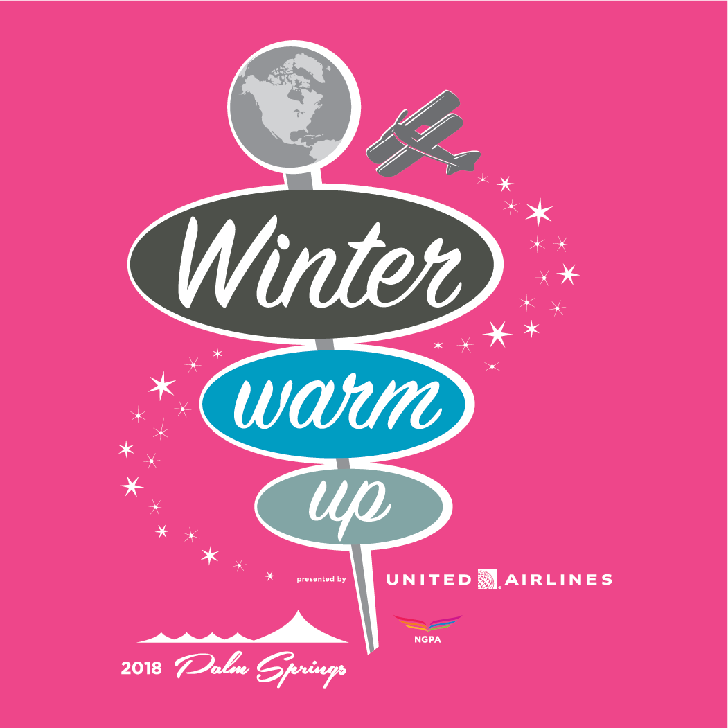 2018 winter warm up logo pink
