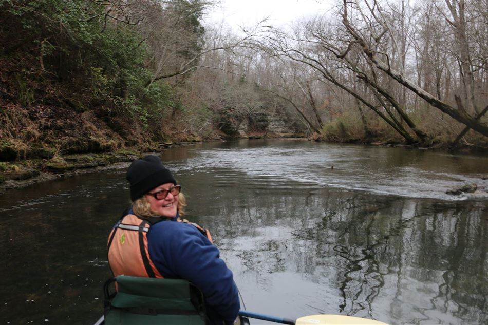 BCCC paddled the upper Tennessee Buffalo River Jan 16.