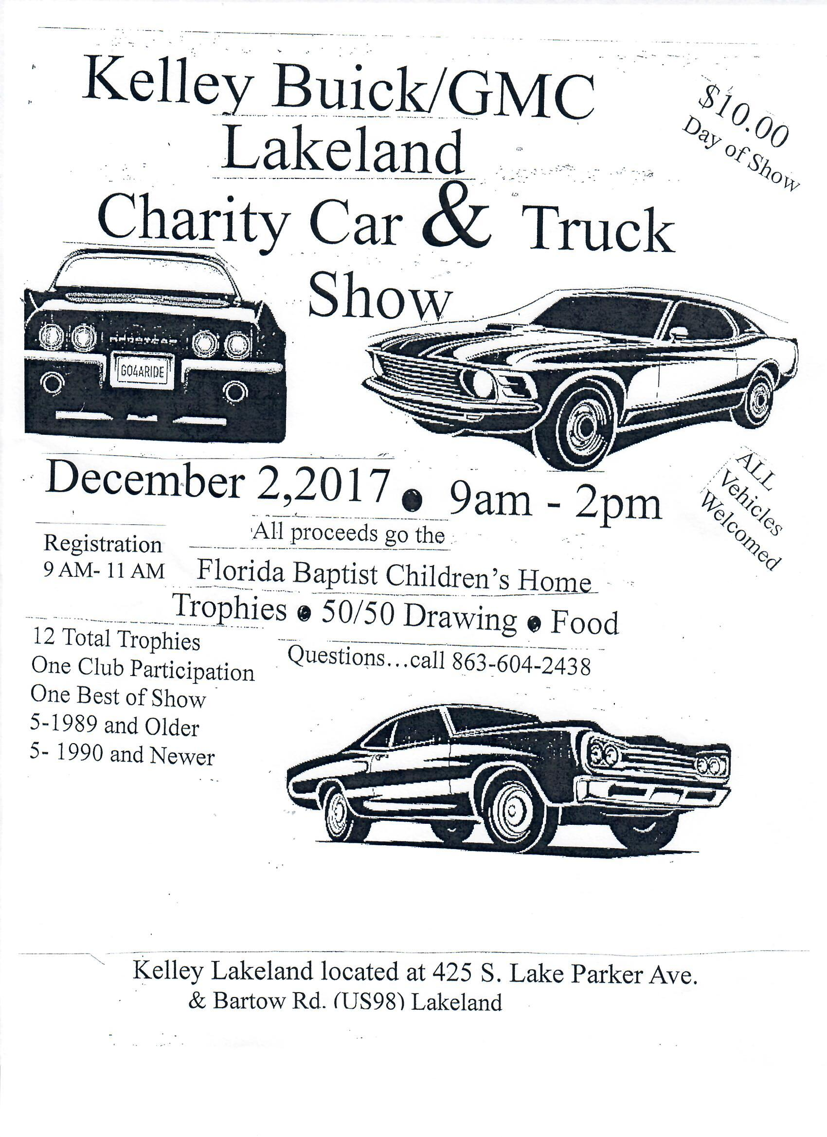 Kelley Buick GMC Lakeland Charity Car&Truck Show Events Tampa