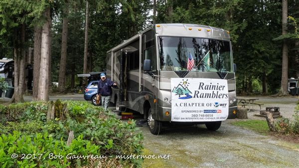 Club outing to the Pioneer Trails RV Resort, near Anacortes, WA
