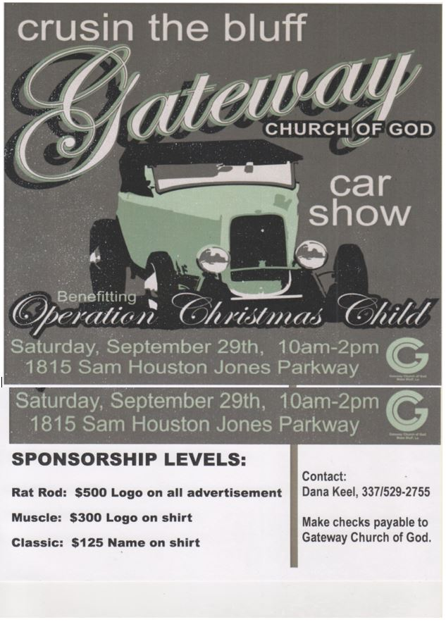 Cruisin The Bluff Car Show Moss Bluff Events Contraband - Car show sponsorship levels