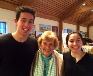 Jack and Avery Younis with Norma Siler