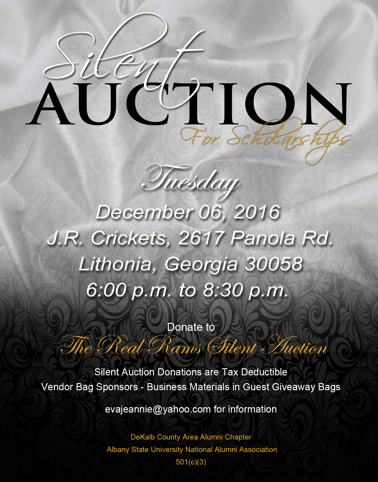 2016 silent auction flyer