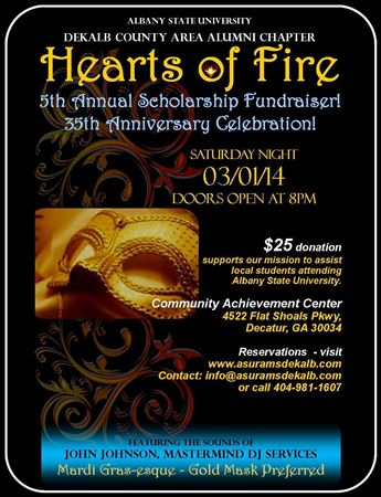 Hearts of Fire 5th Annual and 35th Anniversary.