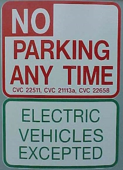 No Parking Except EVs