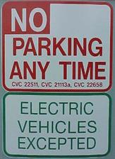 No Parking Except EVs - click to view details