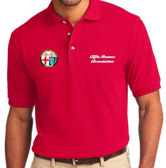 ARA Red Men's Polo Shirt