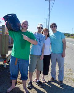 810 pounds of trash collected!!  170 pounds came off the jetty alone!!