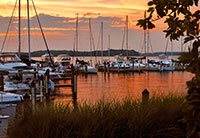 Selby Bay Yacht Club Basin at Sunset