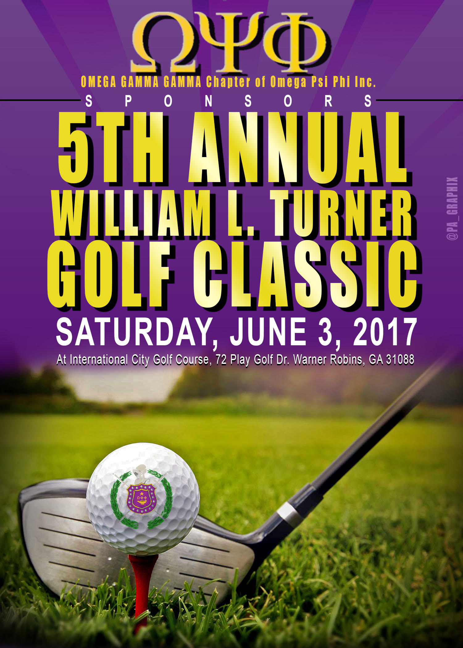 Golf save the date 2017
