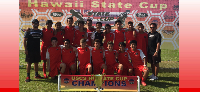 Congratulations to 2002 Boys - 2016 USCS U14B Hawaii State Champions
