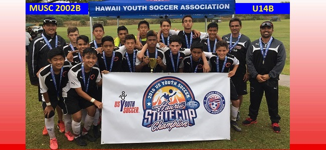 Congratulations to 2002 Boys - 2016 USYS U14B Hawaii State Champions