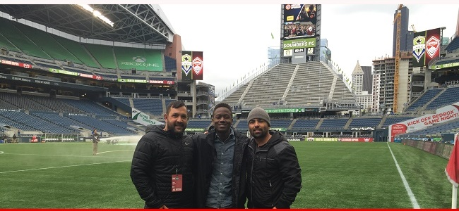 Greg Sutton (99B) and DOC Brent Nunes invited to tour Seattle Sounders Facilities