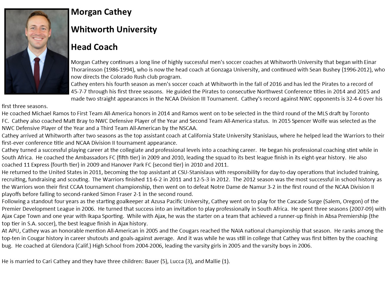 Morgan Cathey Bio