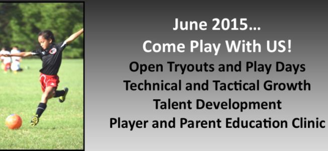 Open Tryouts/Play Days in June