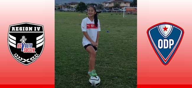 Marea Lee, only 02G from Hawaii selected to the Olympic Development Program (ODP) National Training Camp January 22-25 in Phoenix, AZ.