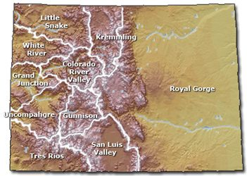 Map of Downloadable BLM Travel Management Maps