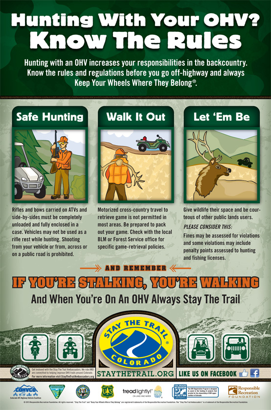 Hunting With Your OHV? Know The Rules