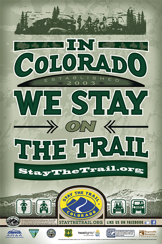 In Colorado We Stay On The Trail