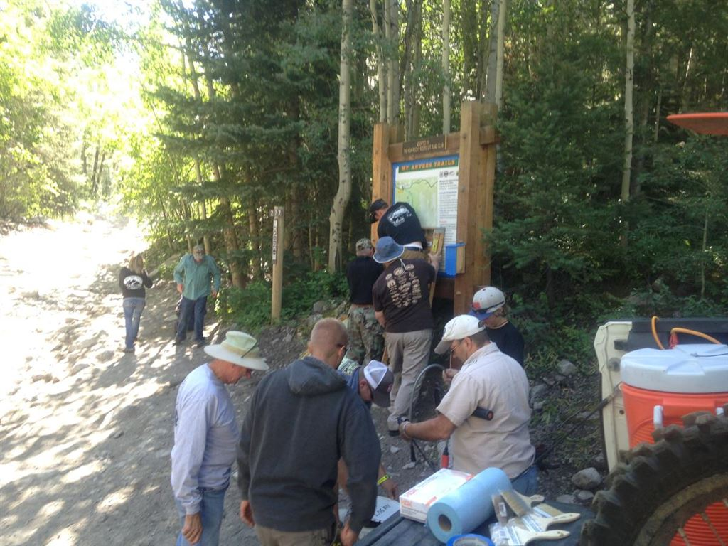 These are some pictures of the Stay The Trail Stewardship Project that was completed during the 2015 All-4-Fun event.