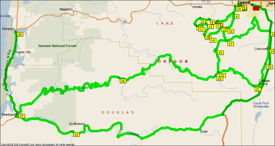 2016-04-02 - Eugene to Cottage Grove Extended 1