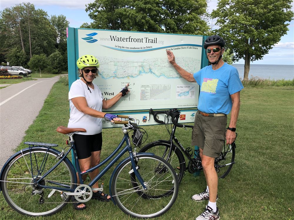 Les McDermott and Gail Nawrock represented LOC on the annual Great Waterway Trail Adventure for 2018 from Ajax to Quebec border
