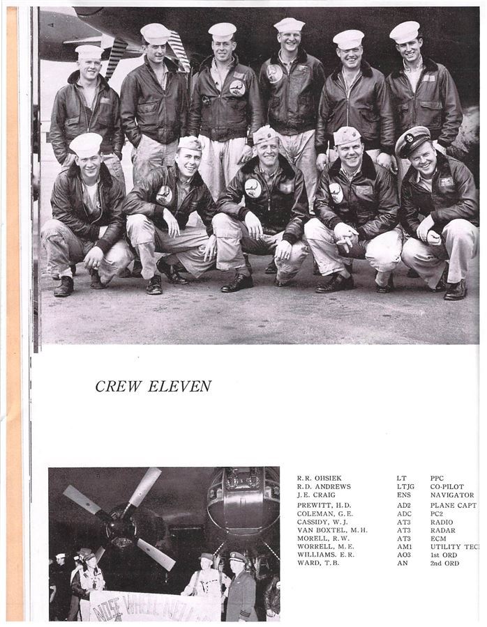 1956 Cruise Album Photo for Flight Crew Eleven