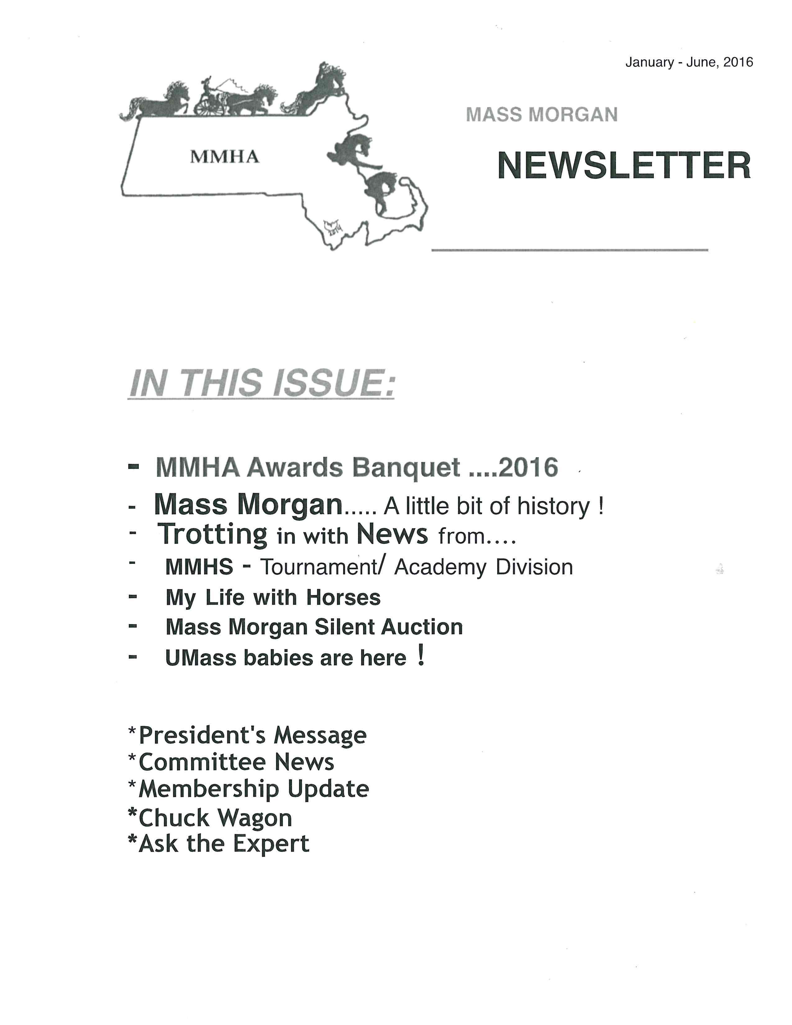 MMHA Newsletter Jan - Jun 2016