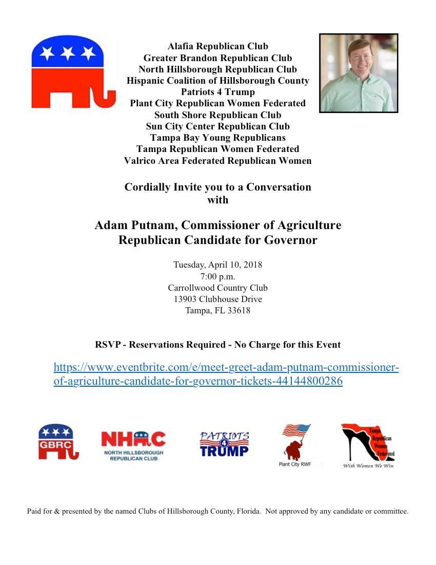 Adam Putnam Meet & Greet