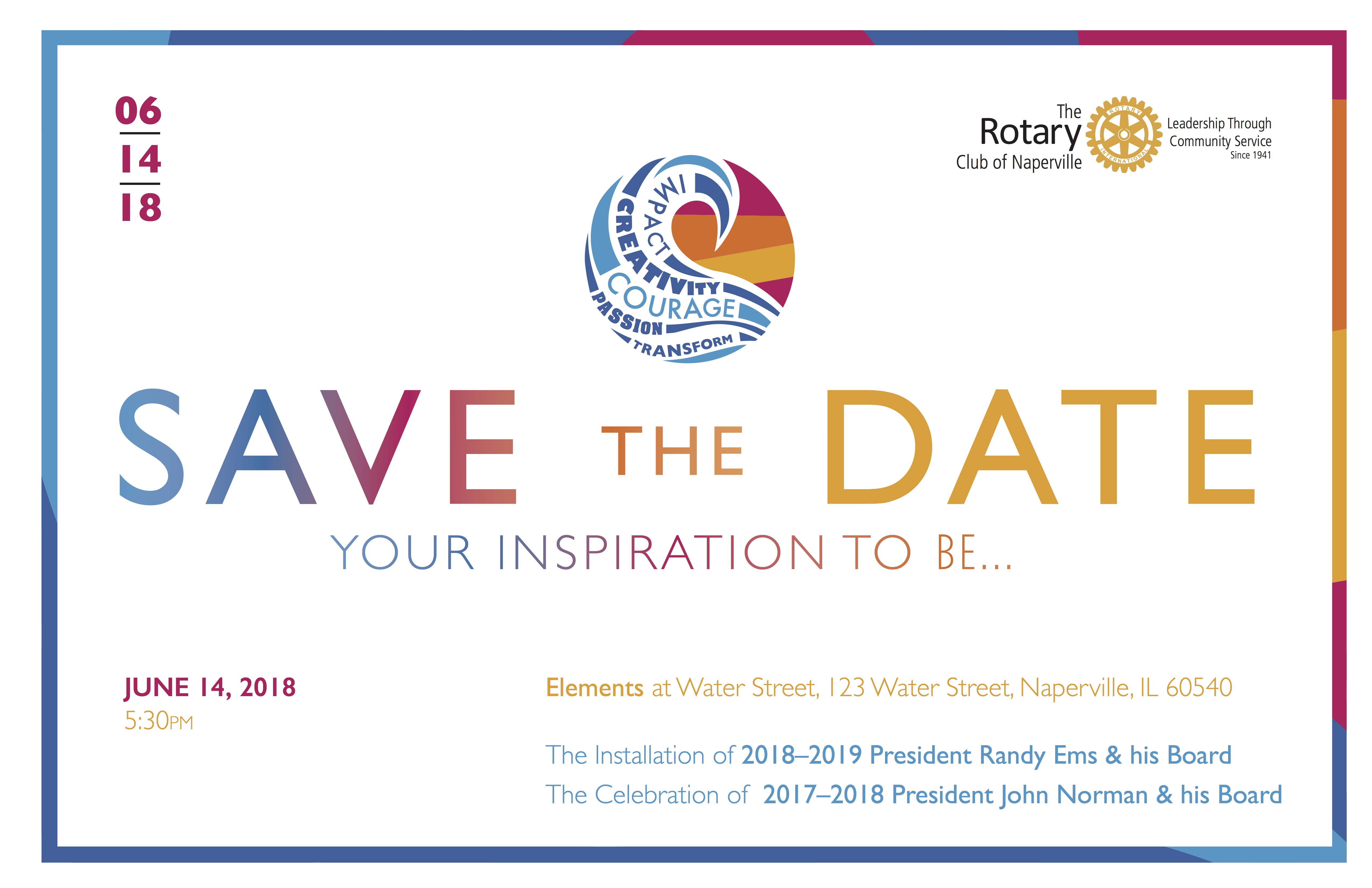 save the date ems installation
