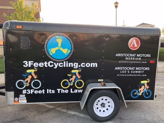 3 feet cycling trailer with Aristocrat