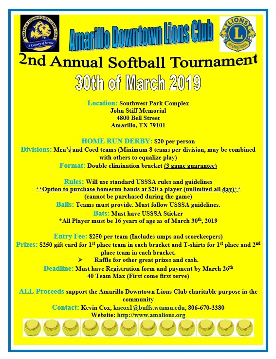 2nd Annual Softball Tournament