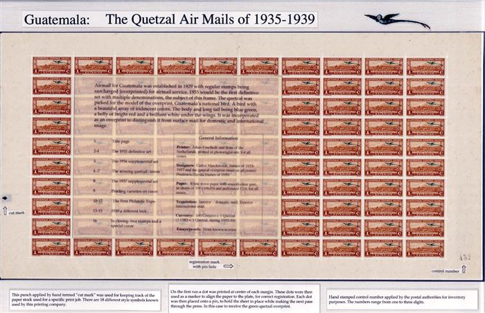 Jaime Marckwordt won a Vermeil at StampShow 2004 for his one-frame exhibit Guatemala: The Quetzal Air Mails of 1935-1939. These stamps were designed by his grandfather, Carlos Marckwordt.