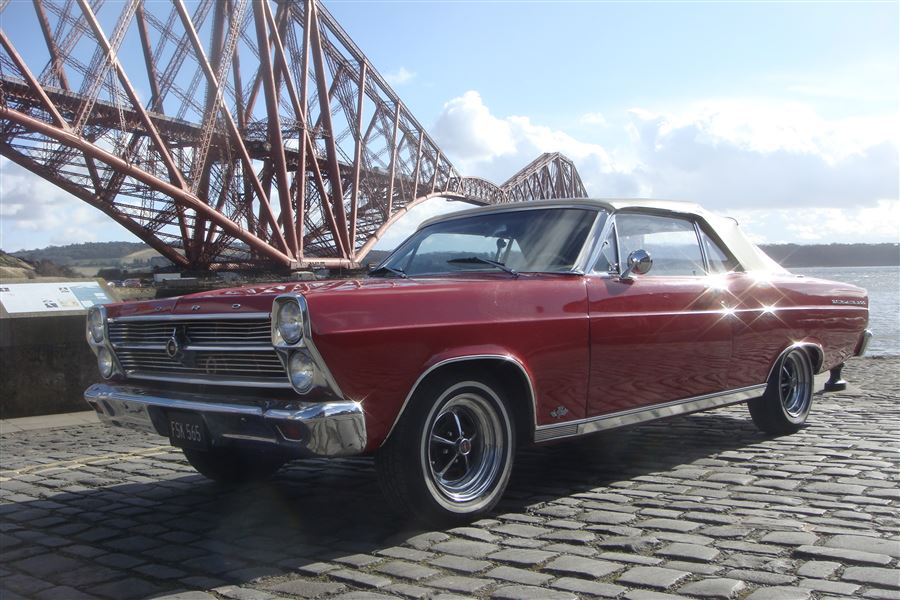 Some 'Happy Snaps' of my '66 Fairlane under the Forth Rail and Road Bridges March 2017