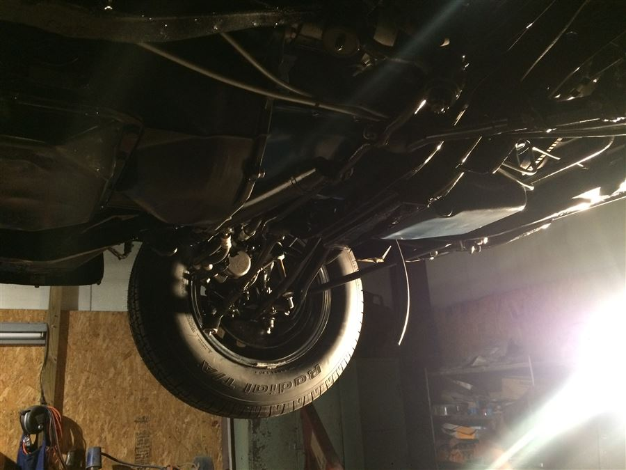 We had the entire drive train, suspension, and underneath completely redone.