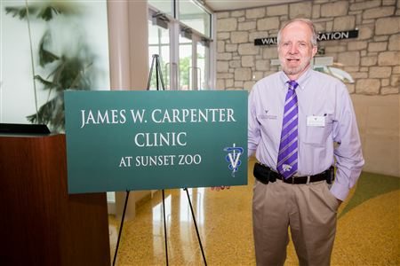 James W. Carpenter Clinic unveiled at the Sunset Zoo, Manhattan Kansas.