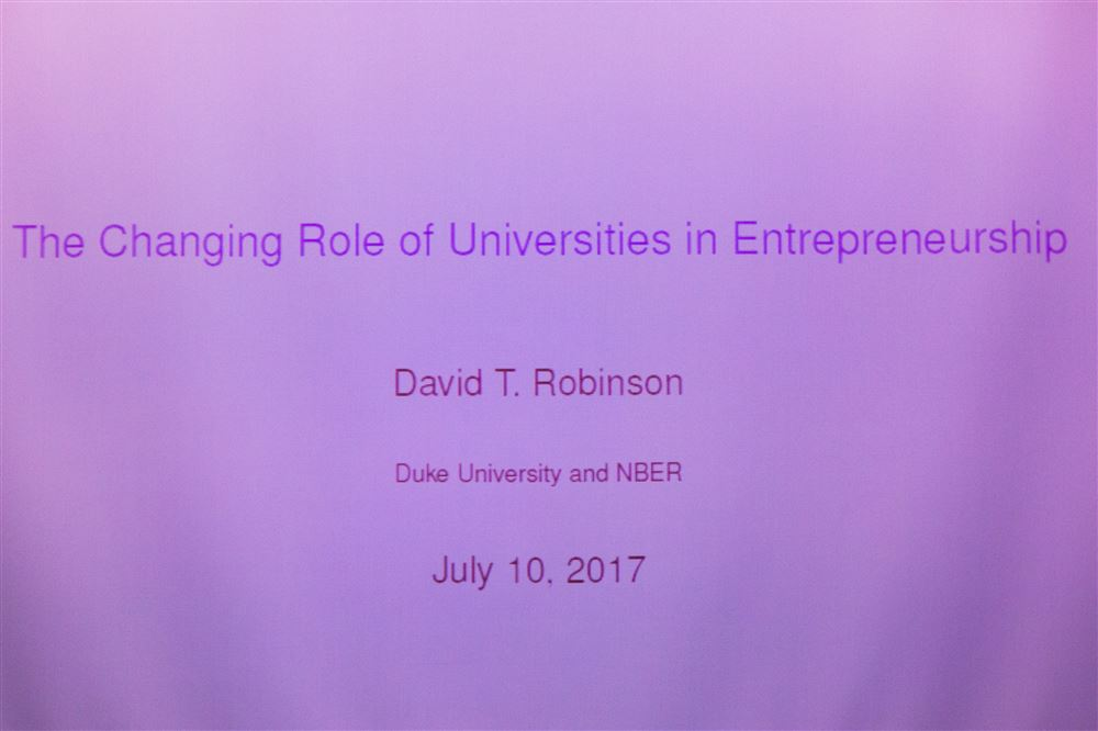 David Robinson, J. Rex Fuqua Distinguished Professor of Finance, Fuqua School of Duke U. talks about the changing role of universities in entrepreneurship.