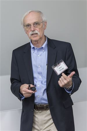 Event images.  Linus Schrage, Professor Emeritus, Chicago Booth, presents