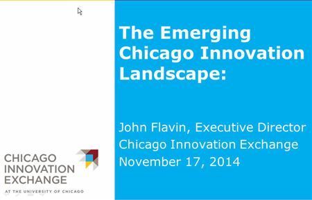 John Flavin presents Chicago Innovation Exchange
