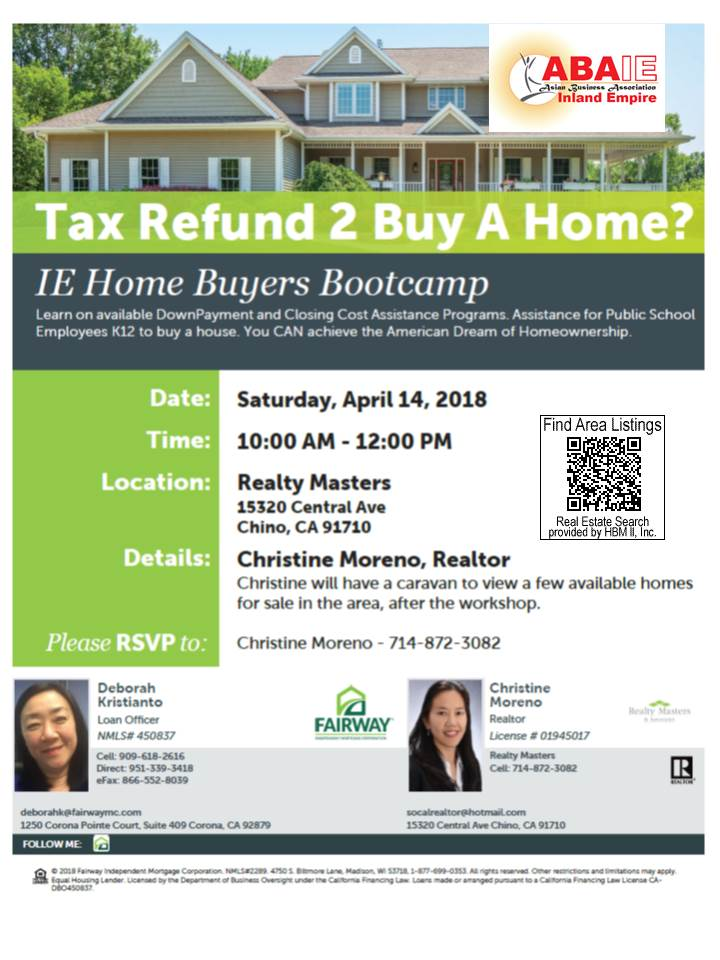 IE Homebuyers Bootcamp April 14