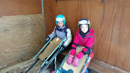 Pictures from the Try Luge program.